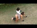 Riding Naked Ponygirl